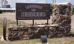 Welcome to Hooker Sign (Hooker, Oklahoma) (courthouselover) Tags: oklahoma ok hooker oklahomapanhandle texascounty citywelcomesigns