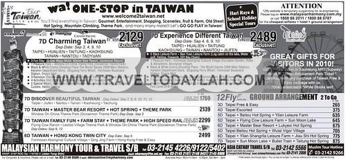 Taiwan holiday packages to Taipei, Hualien, Taitung, Kaohsiung, Tainan, Nantou, Taoyuan