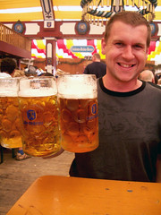 Andrew can lift 3 steins