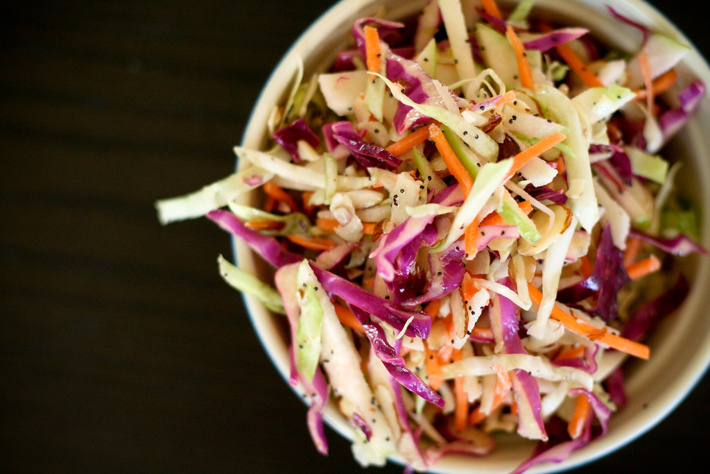 Apple & Poppy Seed Coleslaw