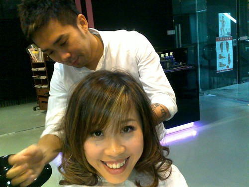 Hairstylist Edward Tang prep for Compass dinner