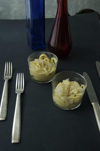 Spaghetti Monograno Khorasan kamut con zuppa di cipolle
