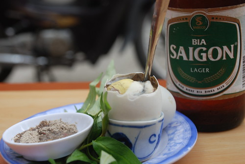 Saigon beer and duck eggs