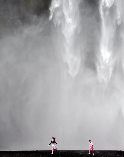 Joy under Skogarfoss