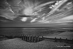 Last Light (Ben Lee Images) Tags: uk blue sunset red sea summer england beach water coast blackwhite eastbourne groyne thechannel colourfull silvereffectspro eastbourneengland sourthernengland