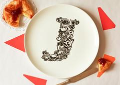 A dollop of Jam (justnoey) Tags: food ceramics plate jam ceramicplate parularora justnoey alphabetplates jforjam justnoeyparularora