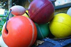 Buoys (N_Connolly) Tags: sea orange france yellow pots colourful bouys helloboys buoyant