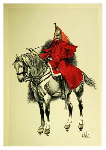 027-Trompeta de coraceros de la guardia imperial-Le chic à cheval histoire pittoresque de l'équitation 1891- Louis Vallet