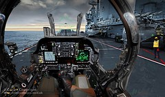 Harrier Pilot Prepares for Takeoff (Defence Images) Tags: uk up ship display unitedkingdom aircraft military cockpit equipment controls heads trophy british aircraftcarrier hud defense carrier defence pilot cvs 2010 harrier peregrine aircrew royalnavy hmsarkroyal gr7 jfh gr9 invincibleclass jointforceharrier