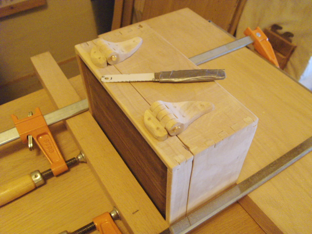 After Pinning Hinges to Box