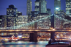Downtown and the two bridges (Tony Shi Photos) Tags: new york city nyc bridge ny brooklyn night photo downtown br manhattan brooklynbridge manhattanbridge lower hdr lowermanhattan nuevayork downtownmanhattan twobridges 纽约 紐約 نيويورك nikond700 ньюйорк 뉴욕주 tonyshi ניויאָרק