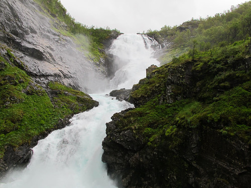 Kjosfoss Waterfall - Flam Railway, Norway