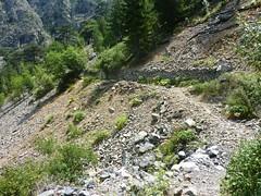 Le sentier de Caprunale ou de la transhumance : quelques dégâts