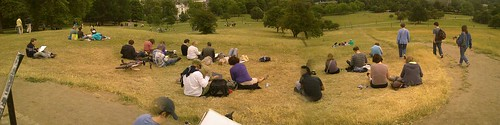 Our crowd at Primrose Hill