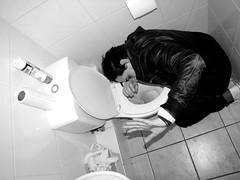 Wild Party (►カサンドラ) Tags: chile people blackandwhite face bathroom crazy antofagasta canonpowerhot