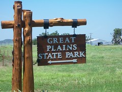 Great Plains State Park Sign