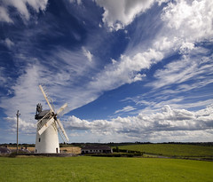 Ballycopeland (Ian Humes) Tags: windmill clouds geotagged sunny bluesky northernireland cloudscape countydown supershot millisle ballycopeland ballycopelandwindmill
