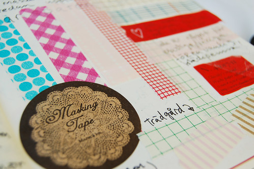 Washi tape detail in my diary