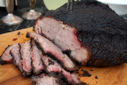 Serving burnt end
