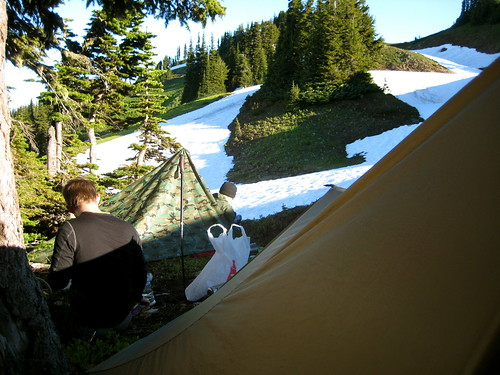 Camp on Pilot Ridge