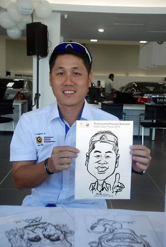 Caricature live sketching for Performance Premium Selection BMW - Day 2 - 15