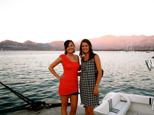 Enjoying the beautiful Calvi sunset