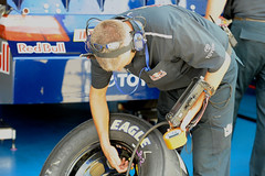 Red Bull Racing Tire Specialist with Tablet PC