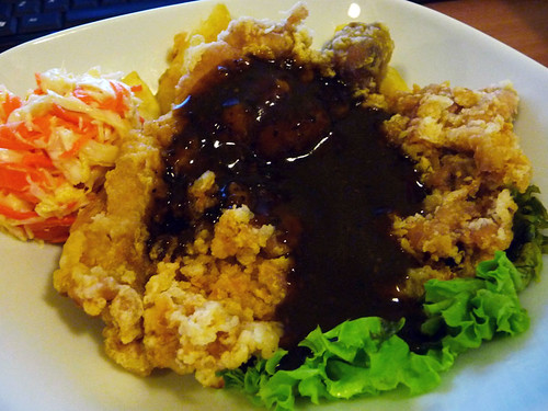 Chicken chop with black pepper sauce - Hailam Kopitiam