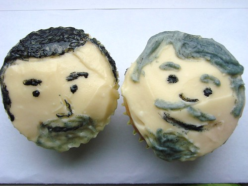 Don Draper and Bert Cooper Cupcakes