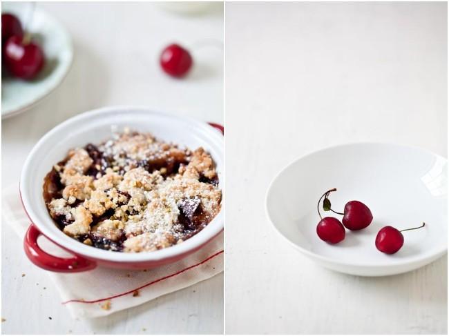 Cherry & Plum Crumbles