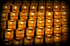 Candles in Notre Dame.