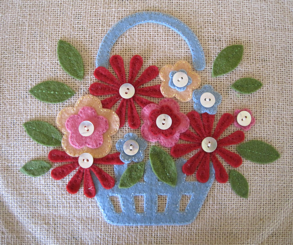 Applique flowers