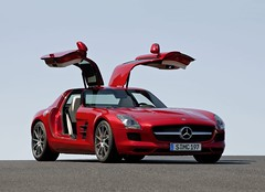Mercedes SLS  AMG 6.3 (ferrari california) Tags: road red black rouge mercedes noir 63 route sls amg transaxle worldcars