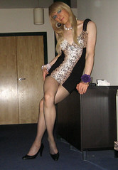 IMG_4056 (SuzyDiazX) Tags: black sexy long dress legs bare babe tgirl sparkle short transvestite miniskirt crossdresser 2010 minidress