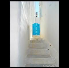 summer in blue (stella_v ❤) Tags: door blue stella light summer white steps minimal greece 2009 paros parosisland stellavardaki