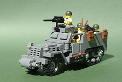 M3A1 Half-Track (1) (Dunechaser) Tags: usa army us lego military worldwarii american armor ww2 m3 apc halftrack allies allied m3a1 brickarms foitsop