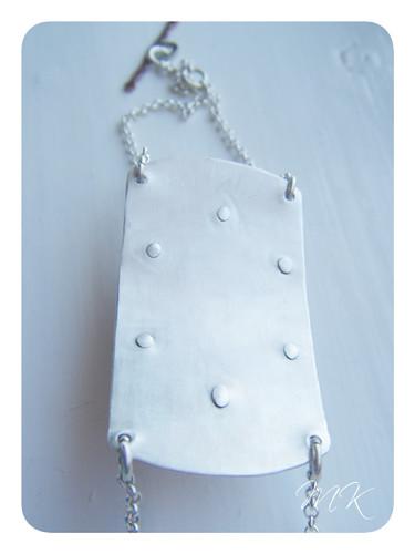 Andesine Labradorite Riveted Bracelet 6