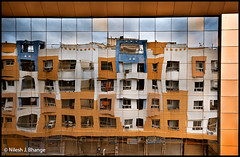 Appartment : Reflection (bnilesh) Tags: india abstract reflection glass architecture interestingness vibrant indore