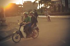 Soleil couchant sur  Lao Cai