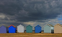 Beach huts at Calshot (Susan SRS) Tags: uk light england beach clouds canon hampshire gb colourful beachhuts 3840 calshot platinumphoto 23july2010