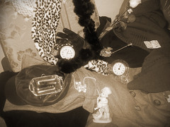 THROUGH TIME (Bernkastel.) Tags: france clock sepia spain time no fake gloves pearl porcelain