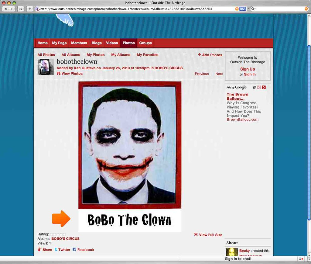 Blackface Obama - Viewing Gallery Robert Downey