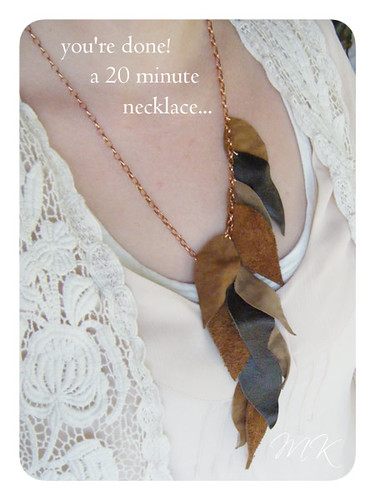 Leather Leaf Necklace Tutorial 13