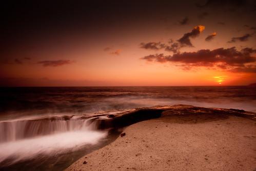 フリー写真素材, 自然・風景, 海, 夕日・夕焼け・日没,