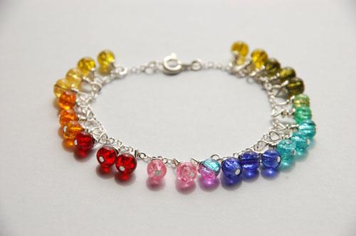 glass beads jewellery bracelet