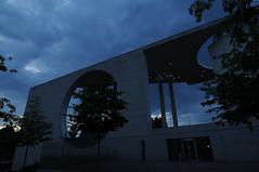 Bundeskanzleramt or Chancelor's building in Berlin (adrian_kool) Tags: travel cloud berlin tourism weather clouds germany deutschland interestingness interesting nikon explore bundeskanzleramt d300 explored adriandumitru