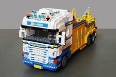 Scania R500 recovery truck (1) (Mad physicist) Tags: truck lego towtruck scania lugnuts 122 wrecker recoverytruck