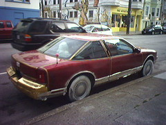 The worst fake gold ever (Eric Fischer) Tags: oldsmobile cutlasssupreme