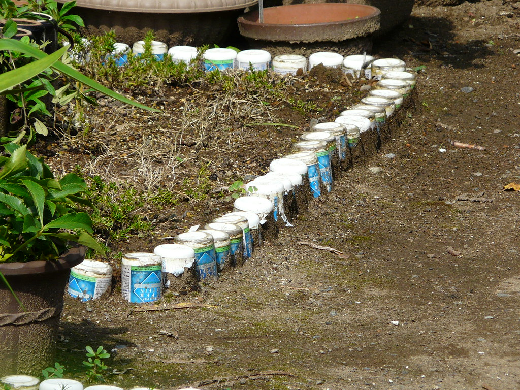 Garden Boundary in Cans
