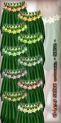 Hula Ti-Leaf Skirt (w/Plumeria) - 50cm - All Colors